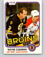 1981-82 O-Pee-Chee #11 Wayne Cashman  Boston Bruins  V29448