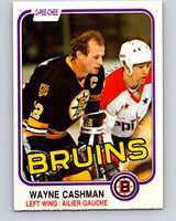 1981-82 O-Pee-Chee #11 Wayne Cashman  Boston Bruins  V29450
