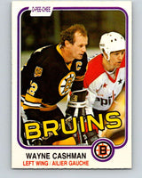 1981-82 O-Pee-Chee #11 Wayne Cashman  Boston Bruins  V29451
