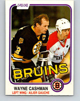 1981-82 O-Pee-Chee #11 Wayne Cashman  Boston Bruins  V29452