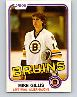 1981-82 O-Pee-Chee #12 Mike Gillis  RC Rookie Boston Bruins  V29453