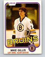 1981-82 O-Pee-Chee #12 Mike Gillis  RC Rookie Boston Bruins  V29454