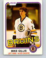1981-82 O-Pee-Chee #12 Mike Gillis  RC Rookie Boston Bruins  V29455