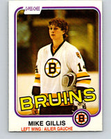 1981-82 O-Pee-Chee #12 Mike Gillis  RC Rookie Boston Bruins  V29456