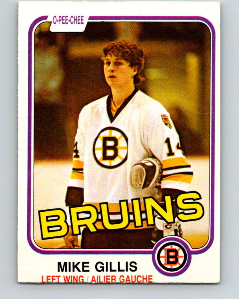1981-82 O-Pee-Chee #12 Mike Gillis  RC Rookie Boston Bruins  V29457