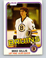 1981-82 O-Pee-Chee #12 Mike Gillis  RC Rookie Boston Bruins  V29458