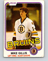 1981-82 O-Pee-Chee #12 Mike Gillis  RC Rookie Boston Bruins  V29459
