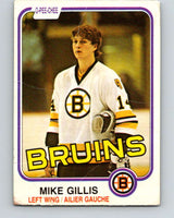 1981-82 O-Pee-Chee #12 Mike Gillis  RC Rookie Boston Bruins  V29460