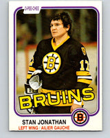 1981-82 O-Pee-Chee #13 Stan Jonathan  Boston Bruins  V29462