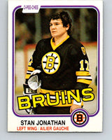 1981-82 O-Pee-Chee #13 Stan Jonathan  Boston Bruins  V29463