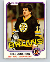 1981-82 O-Pee-Chee #13 Stan Jonathan  Boston Bruins  V29464