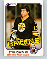 1981-82 O-Pee-Chee #13 Stan Jonathan  Boston Bruins  V29465