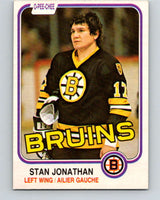 1981-82 O-Pee-Chee #13 Stan Jonathan  Boston Bruins  V29468