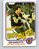 1981-82 O-Pee-Chee #14 Don Marcotte  Boston Bruins  V29469