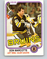 1981-82 O-Pee-Chee #14 Don Marcotte  Boston Bruins  V29470