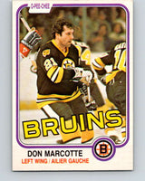 1981-82 O-Pee-Chee #14 Don Marcotte  Boston Bruins  V29471