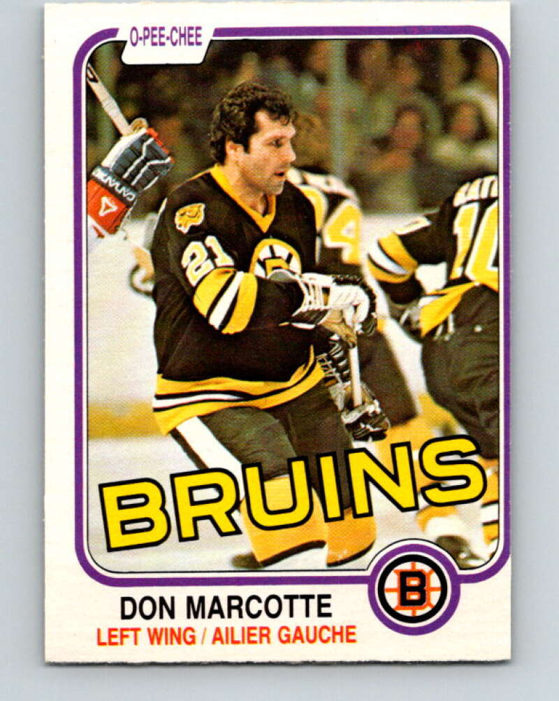 1981-82 O-Pee-Chee #14 Don Marcotte  Boston Bruins  V29473