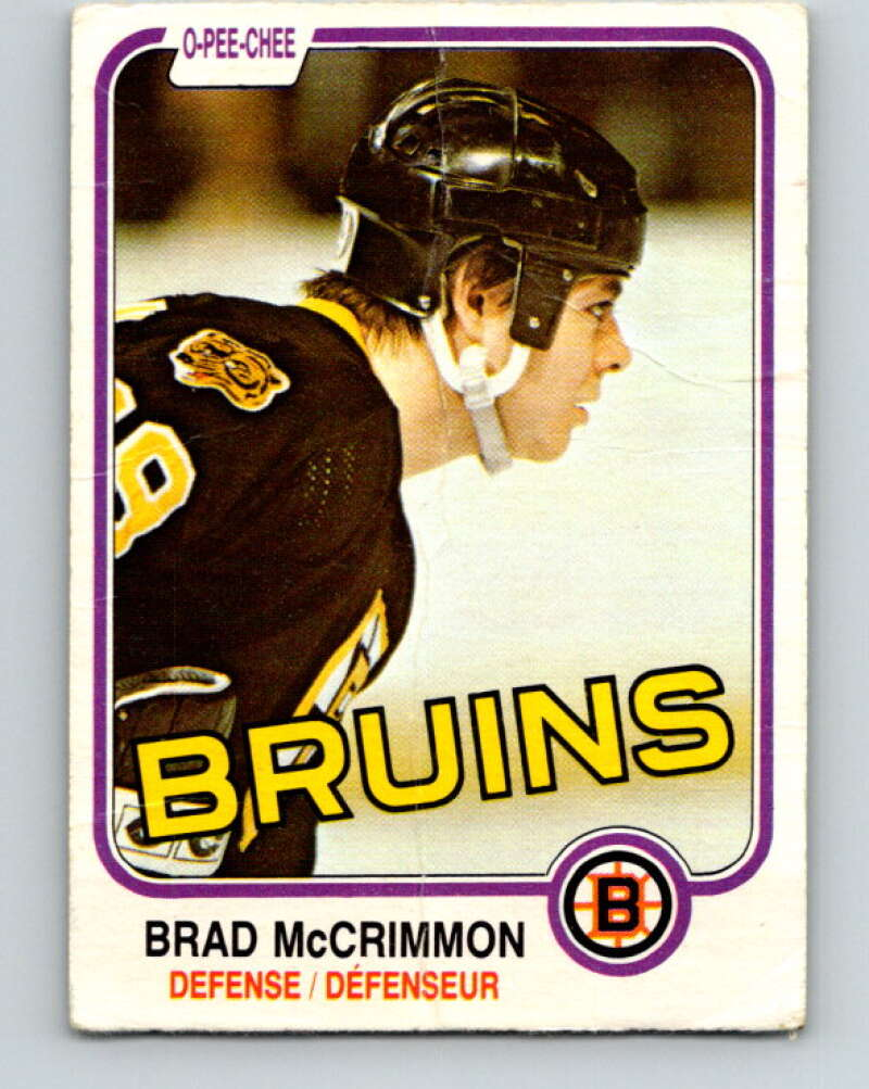 1981-82 O-Pee-Chee #15 Brad McCrimmon  Boston Bruins  V29485