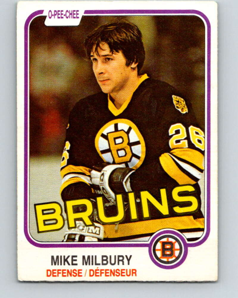 1981-82 O-Pee-Chee #16 Mike Milbury  Boston Bruins  V29486