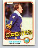 1981-82 O-Pee-Chee #21 Don Edwards  Buffalo Sabres  V29519