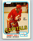 1981-82 O-Pee-Chee #41 Randy Holt  Washington Capitals  V29675