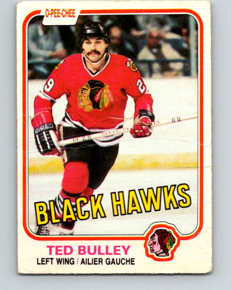 1981-82 O-Pee-Chee #56 Ted Bulley  Chicago Blackhawks  V29797