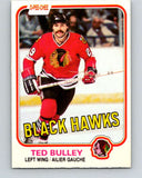 1981-82 O-Pee-Chee #56 Ted Bulley  Chicago Blackhawks  V29802