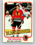 1981-82 O-Pee-Chee #57 Tim Higgins  RC Rookie Chicago Blackhawks  V29812