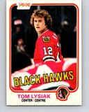 1981-82 O-Pee-Chee #59 Tom Lysiak  Chicago Blackhawks  V29824