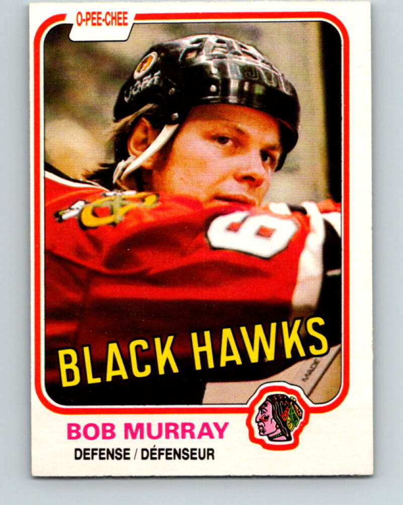 1981-82 O-Pee-Chee #61 Bob Murray  Chicago Blackhawks  V29839
