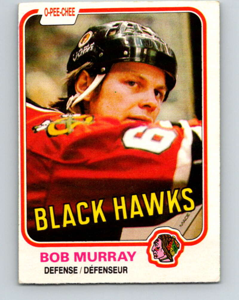 1981-82 O-Pee-Chee #61 Bob Murray  Chicago Blackhawks  V29840