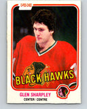 1981-82 O-Pee-Chee #64 Glen Sharpley  Chicago Blackhawks  V29854