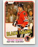 1981-82 O-Pee-Chee #71 Peter Marsh  Chicago Blackhawks  V29919
