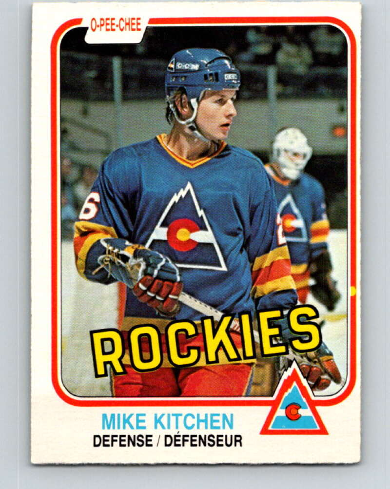 1981-82 O-Pee-Chee #83 Mike Kitchen  Colorado Rockies  V30012