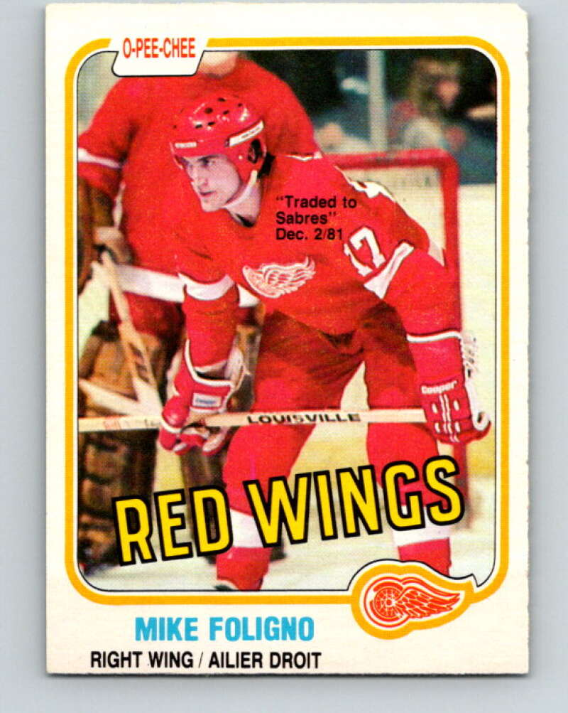 1981-82 O-Pee-Chee #87 Mike Foligno  Detroit Red Wings  V30045