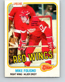 1981-82 O-Pee-Chee #87 Mike Foligno  Detroit Red Wings  V30048