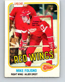 1981-82 O-Pee-Chee #87 Mike Foligno  Detroit Red Wings  V30049