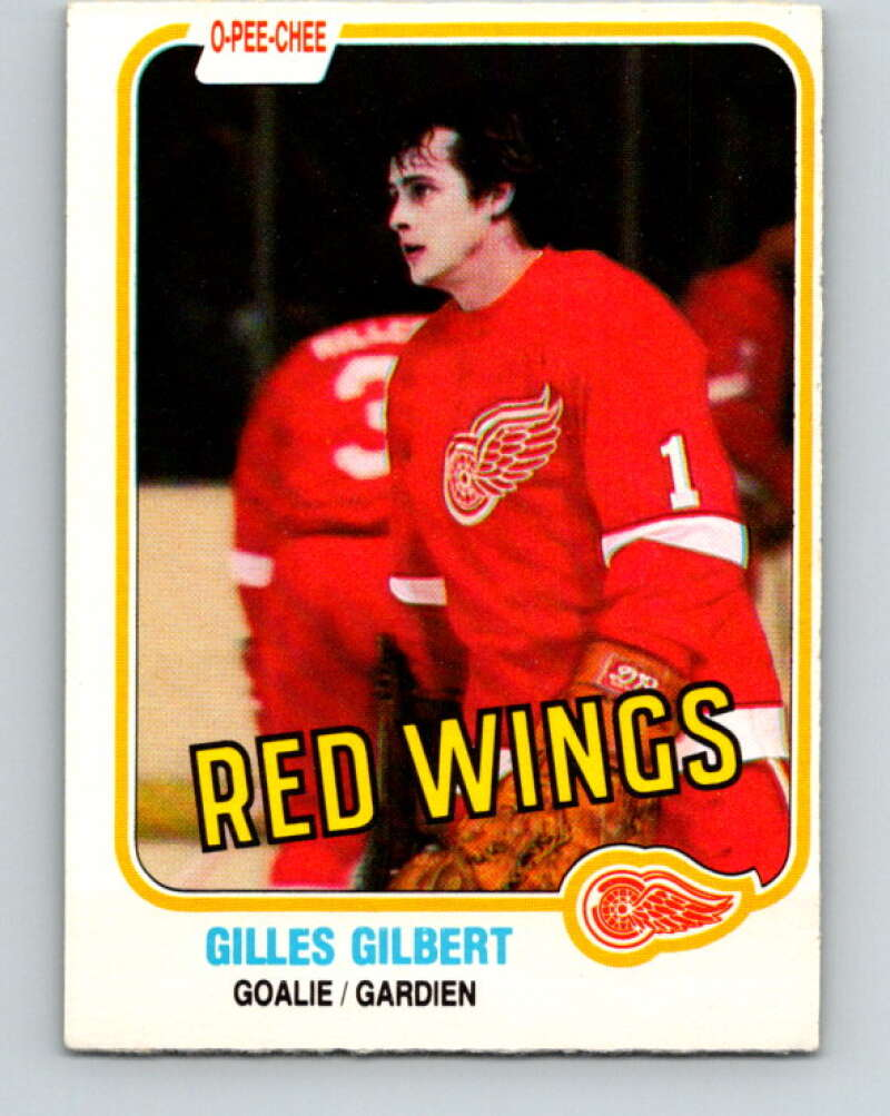 1981-82 O-Pee-Chee #88 Gilles Gilbert  Detroit Red Wings  V30054