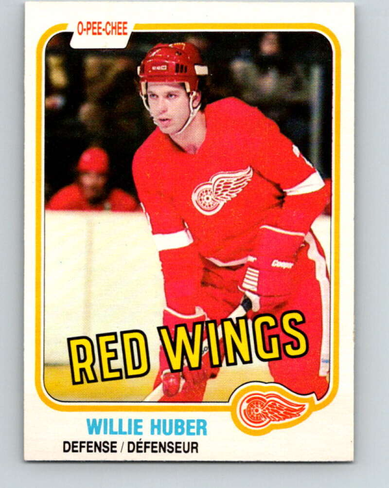 1981-82 O-Pee-Chee #89 Willie Huber  Detroit Red Wings  V30063