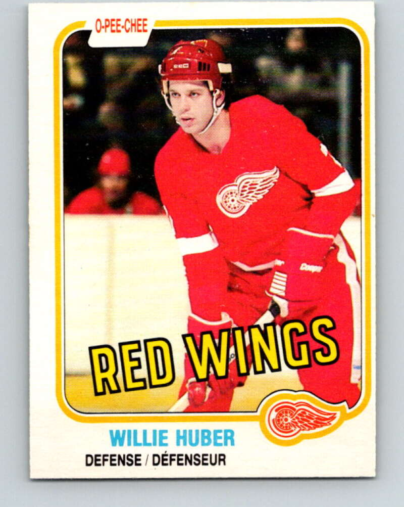 1981-82 O-Pee-Chee #89 Willie Huber  Detroit Red Wings  V30068