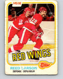1981-82 O-Pee-Chee #92 Reed Larson  Detroit Red Wings  V30087