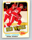 1981-82 O-Pee-Chee #92 Reed Larson  Detroit Red Wings  V30091