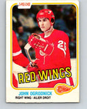1981-82 O-Pee-Chee #95 John Ogrodnick  Detroit Red Wings  V30116
