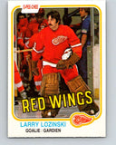 1981-82 O-Pee-Chee #99 Larry Lozinski  RC Rookie Detroit Red Wings  V30164