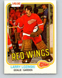 1981-82 O-Pee-Chee #99 Larry Lozinski  RC Rookie Detroit Red Wings  V30166