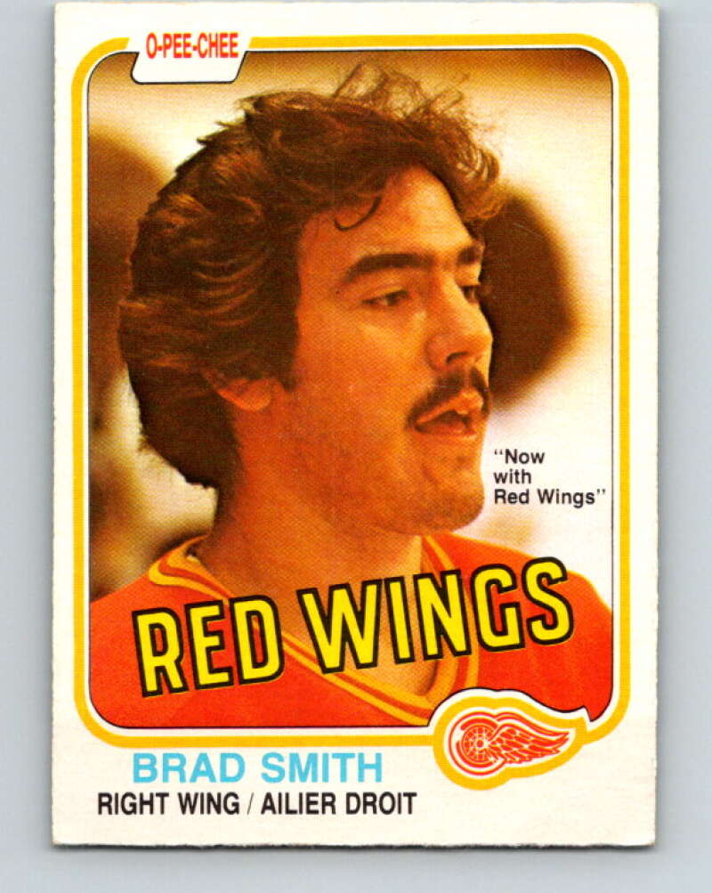 1981-82 O-Pee-Chee #103 Brad Smith  RC Rookie Detroit Red Wings  V30196