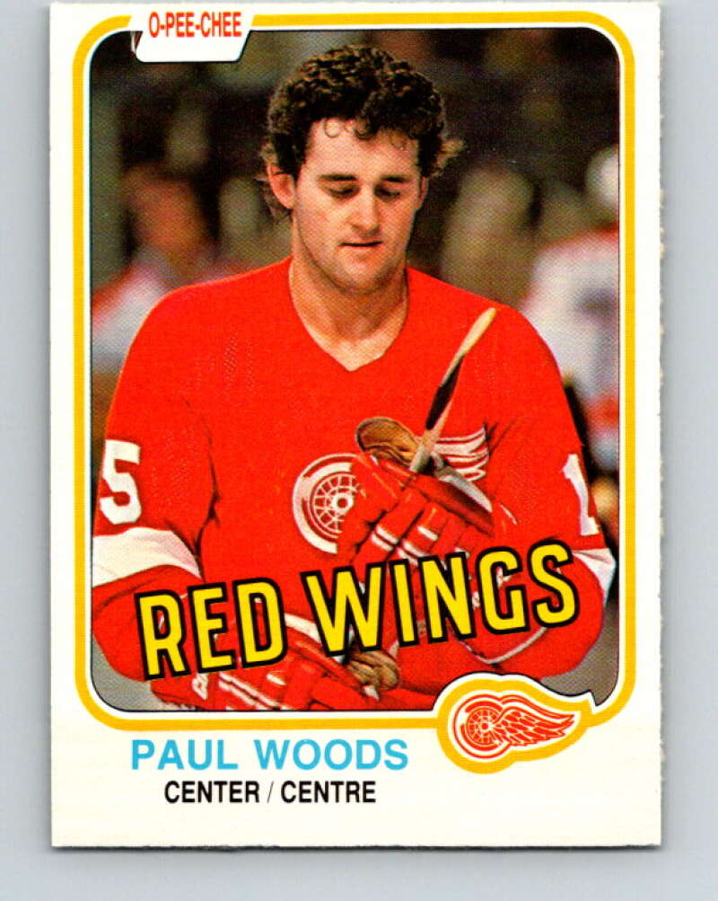 1981-82 O-Pee-Chee #104 Paul Woods  Detroit Red Wings  V30200