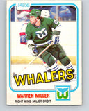 1981-82 O-Pee-Chee #130 Warren Miller  RC Rookie Hartford Whalers  V30358