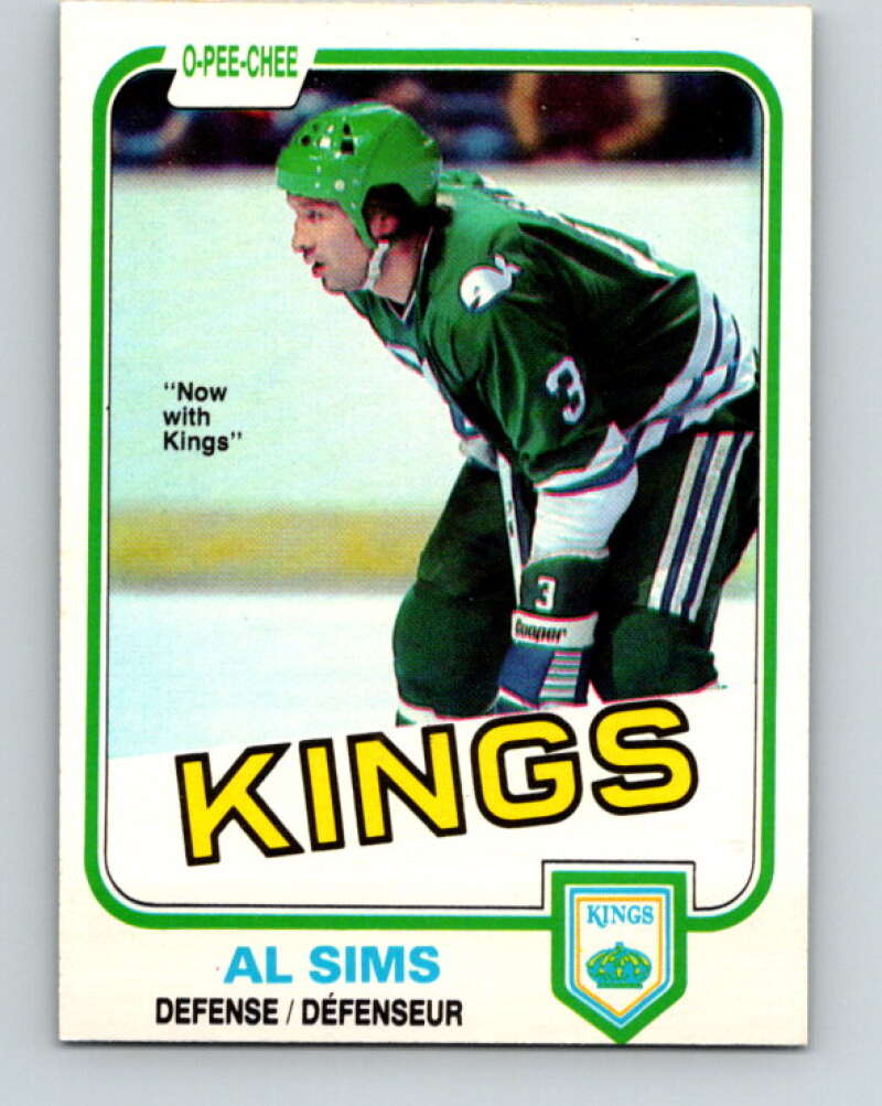 1981-82 O-Pee-Chee #131 Al Sims  Los Angeles Kings  V30368