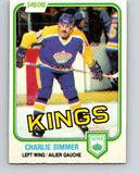 1981-82 O-Pee-Chee #142 Charlie Simmer  Los Angeles Kings  V30453